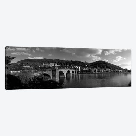 Bridge Heidelberg, Germany (black & white) Canvas Print #PIM250bw} by Panoramic Images Canvas Art Print