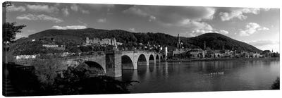 Bridge Heidelberg, Germany (black & white) Canvas Art Print