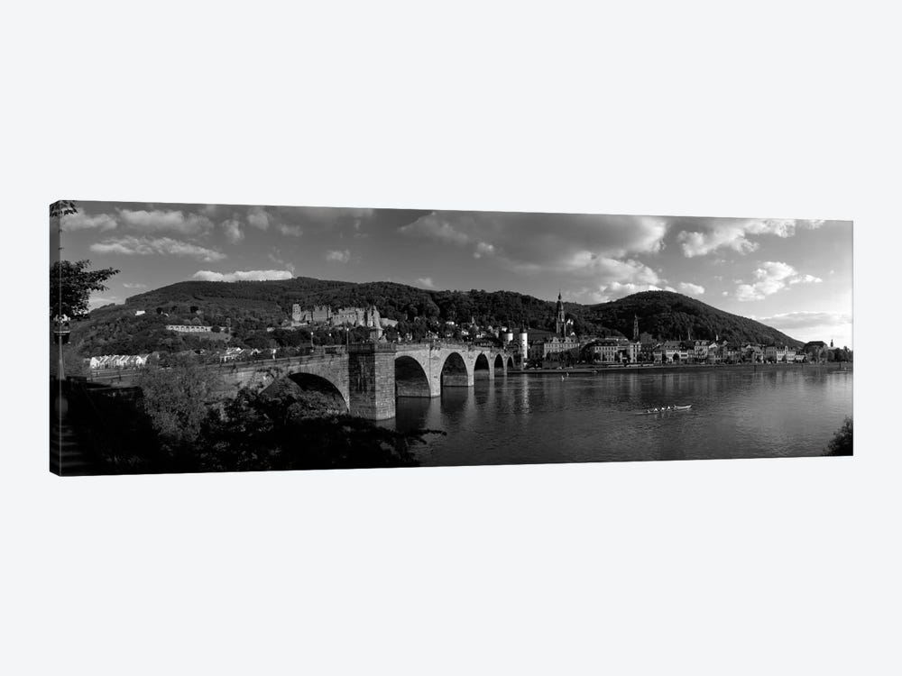Bridge Heidelberg, Germany (black & white) by Panoramic Images 1-piece Canvas Artwork