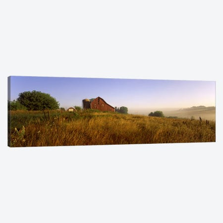 Country Barn, Iowa County, Wisconsin, USA Canvas Print #PIM2511} by Panoramic Images Art Print