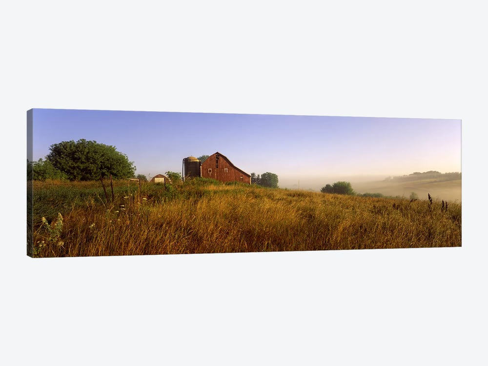 Country Barn, Iowa County, Wisconsin, USA by Panoramic Images 1-piece Canvas Art