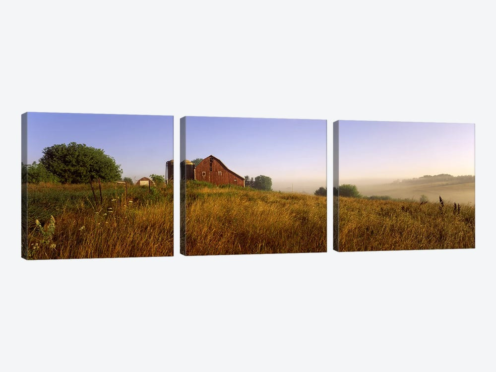 Country Barn, Iowa County, Wisconsin, USA by Panoramic Images 3-piece Canvas Art