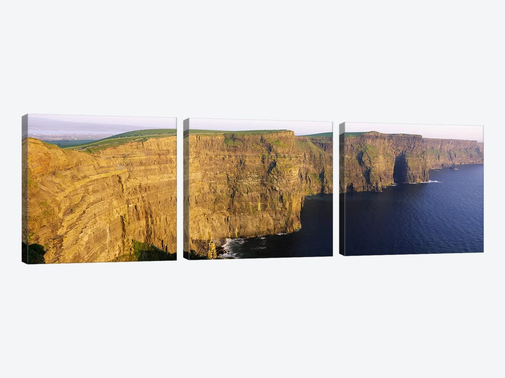 Cliffs Of Moher, County Clare, Munster Province, Republic Of Ireland by Panoramic Images 3-piece Canvas Art