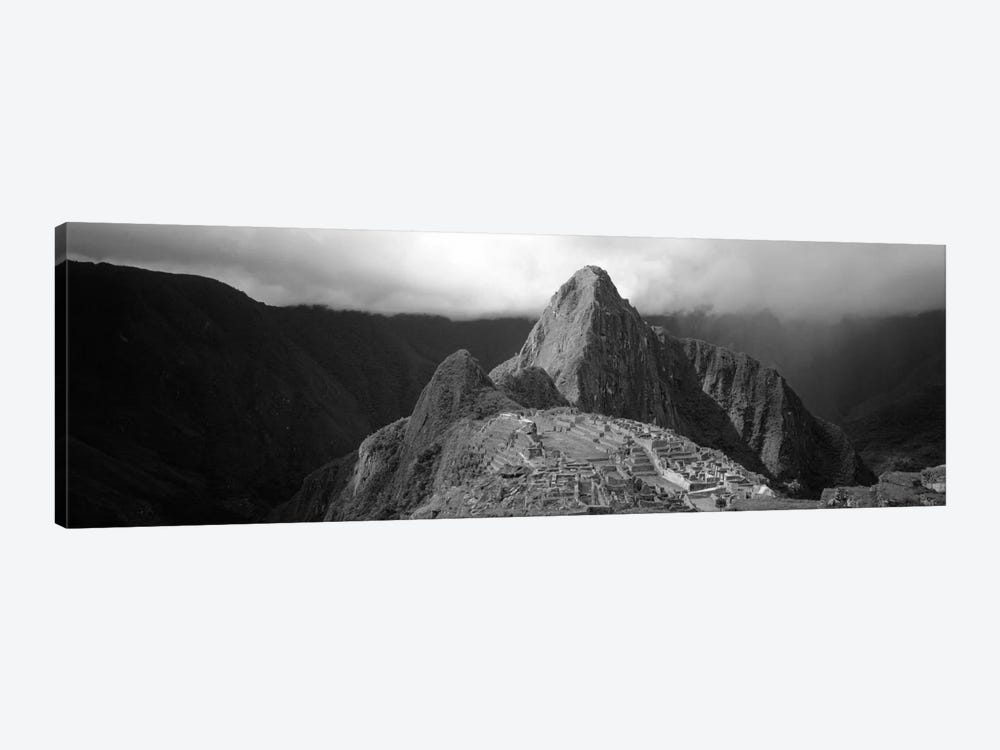 Ruins, Machu Picchu, Peru (black & white) by Panoramic Images 1-piece Canvas Print