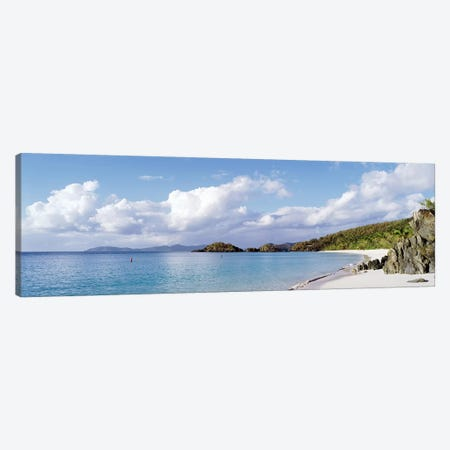 Cloudy Coastal Landscape, Trunk Bay, Saint John, US Virgin Islands Canvas Print #PIM2526} by Panoramic Images Art Print