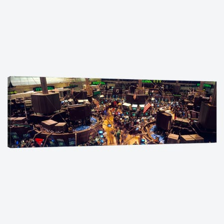 Trading Floor, NYSE, New York City, New York, USA Canvas Print #PIM252} by Panoramic Images Canvas Art Print