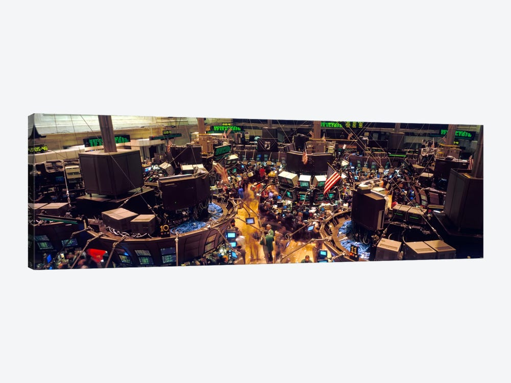 Trading Floor, NYSE, New York City, New York, USA by Panoramic Images 1-piece Canvas Artwork