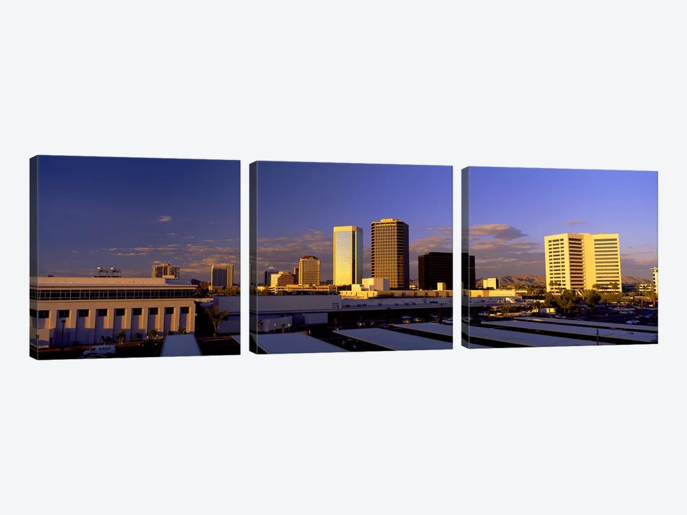 Cityscape Phoenix AZ by Panoramic Images 3-piece Canvas Art