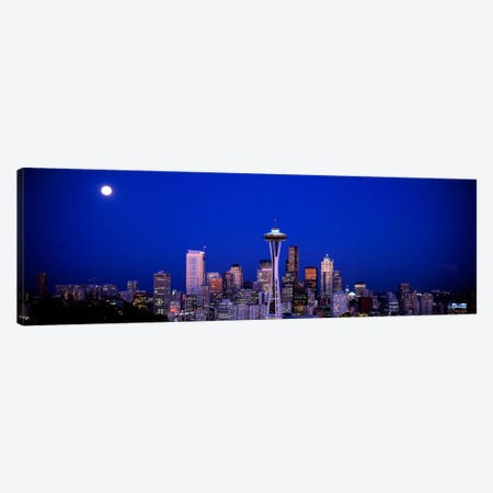 Moonrise, Seattle, Washington State, USA Canvas Print #PIM2537} by Panoramic Images Canvas Artwork