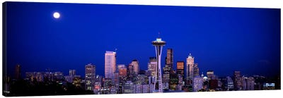 Moonrise, Seattle, Washington State, USA Canvas Art Print