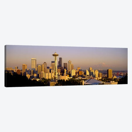 High angle view of buildings in a citySeattle, Washington State, USA Canvas Print #PIM2538} by Panoramic Images Canvas Art Print