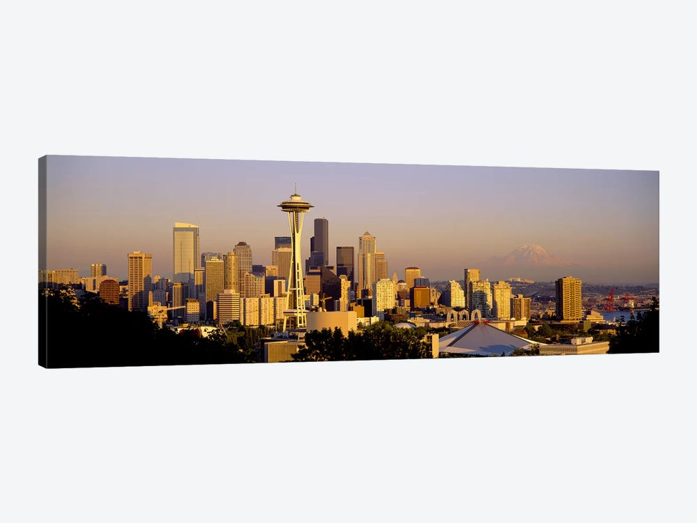 High angle view of buildings in a citySeattle, Washington State, USA by Panoramic Images 1-piece Canvas Art Print