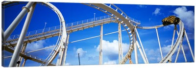 Batman The Escape Rollercoaster, Astroworld, Houston, Texas, USA Canvas Art Print