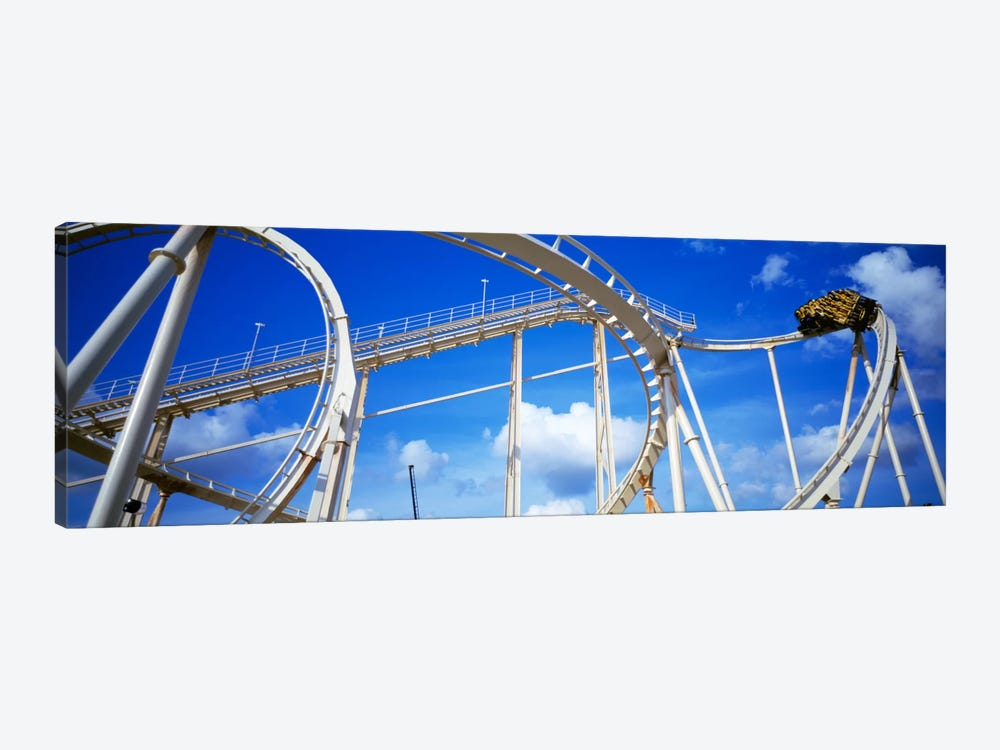 Batman The Escape Rollercoaster, Astroworld, Houston, Texas, USA by Panoramic Images 1-piece Canvas Art Print