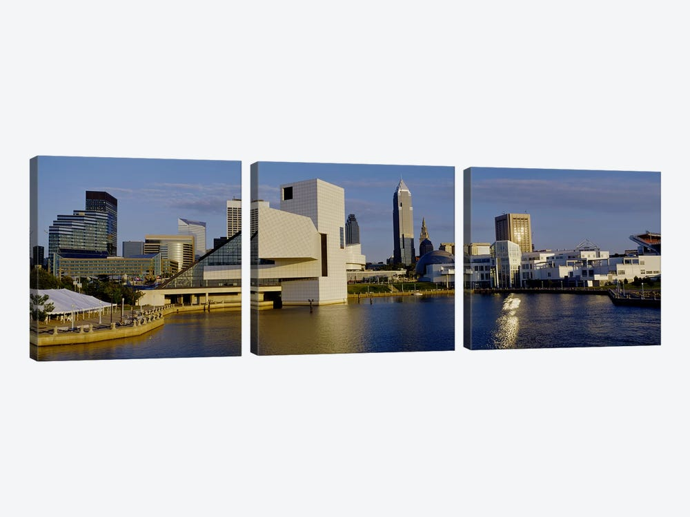 Buildings In A City, Cleveland, Ohio, USA by Panoramic Images 3-piece Canvas Art Print