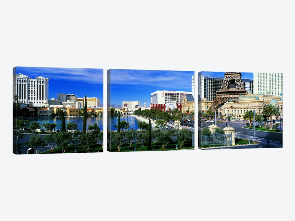 The Strip Las Vegas NV by Panoramic Images 3-piece Canvas Print