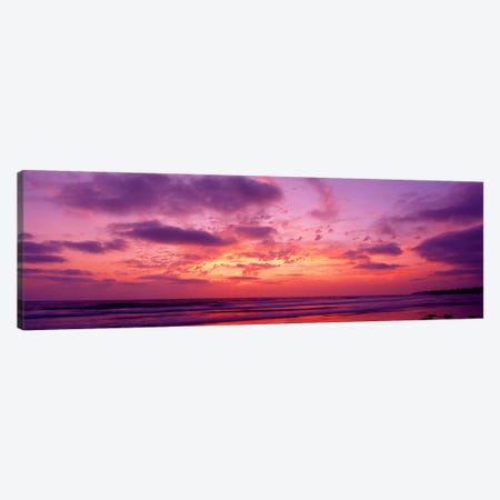 Clouds in the sky at sunset, Pacific Beach, San Diego, California, USA Canvas Print #PIM2544} by Panoramic Images Canvas Art Print