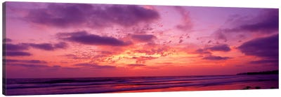 Clouds in the sky at sunset, Pacific Beach, San Diego, California, USA Canvas Art Print