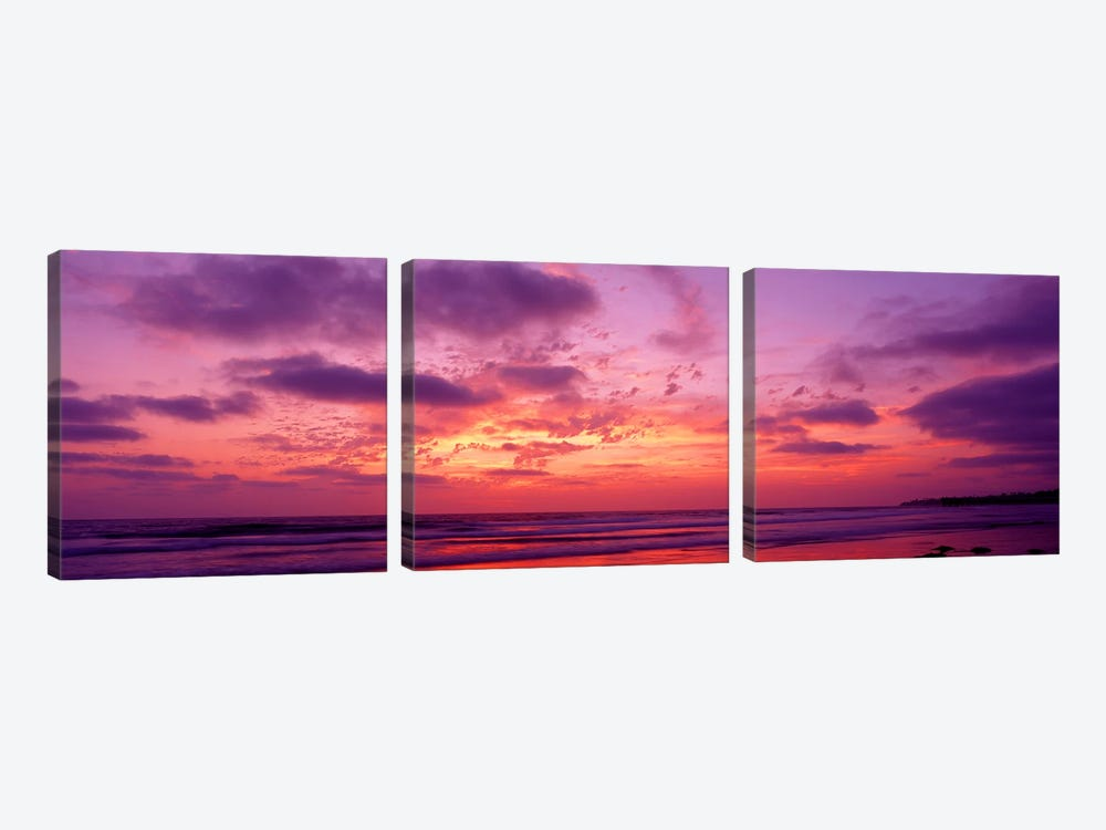 Clouds in the sky at sunset, Pacific Beach, San Diego, California, USA by Panoramic Images 3-piece Canvas Art