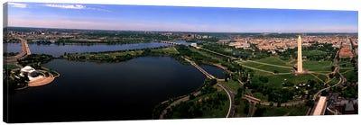 Aerial Washington DC USA Canvas Print #PIM2549