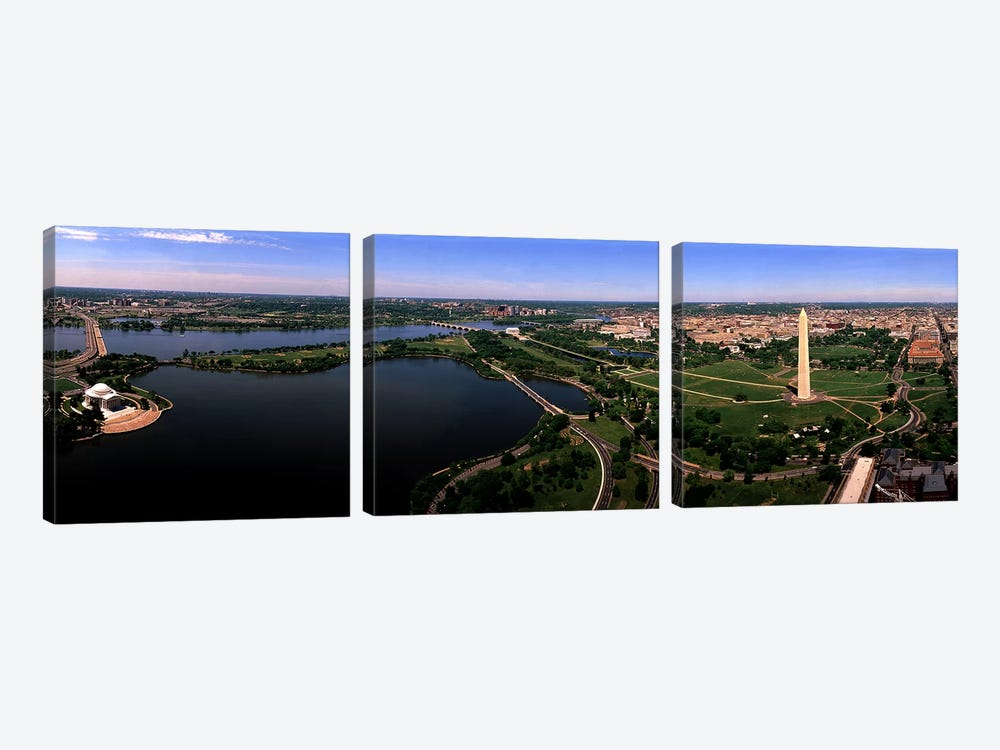 Aerial Washington DC USA by Panoramic Images 3-piece Canvas Art Print
