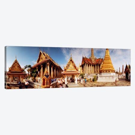 Phra Maha Prasat Group, Grand Palace, Bangkok, Thailand 3-Piece Canvas #PIM254} by Panoramic Images Canvas Wall Art