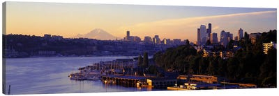 Sunrise, Lake Union, Seattle, Washington State, USA Canvas Print #PIM2553