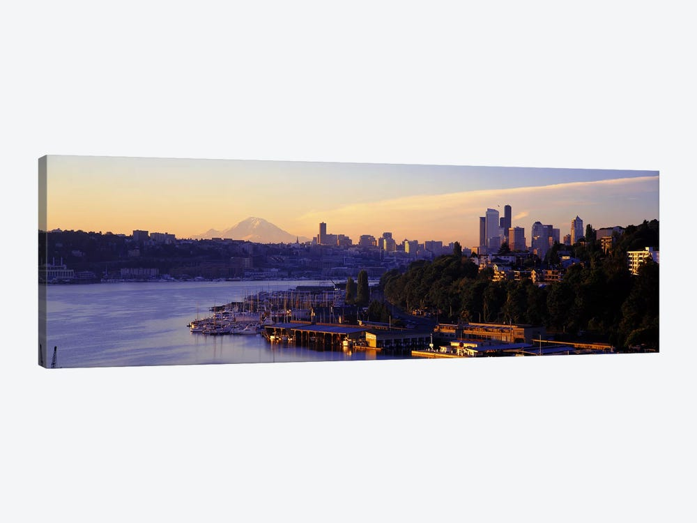 Sunrise, Lake Union, Seattle, Washington State, USA by Panoramic Images 1-piece Canvas Wall Art