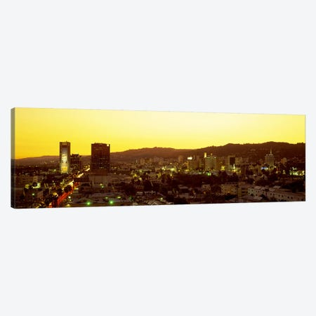 Hollywood Hills, Hollywood, California, USA Canvas Print #PIM2554} by Panoramic Images Canvas Wall Art
