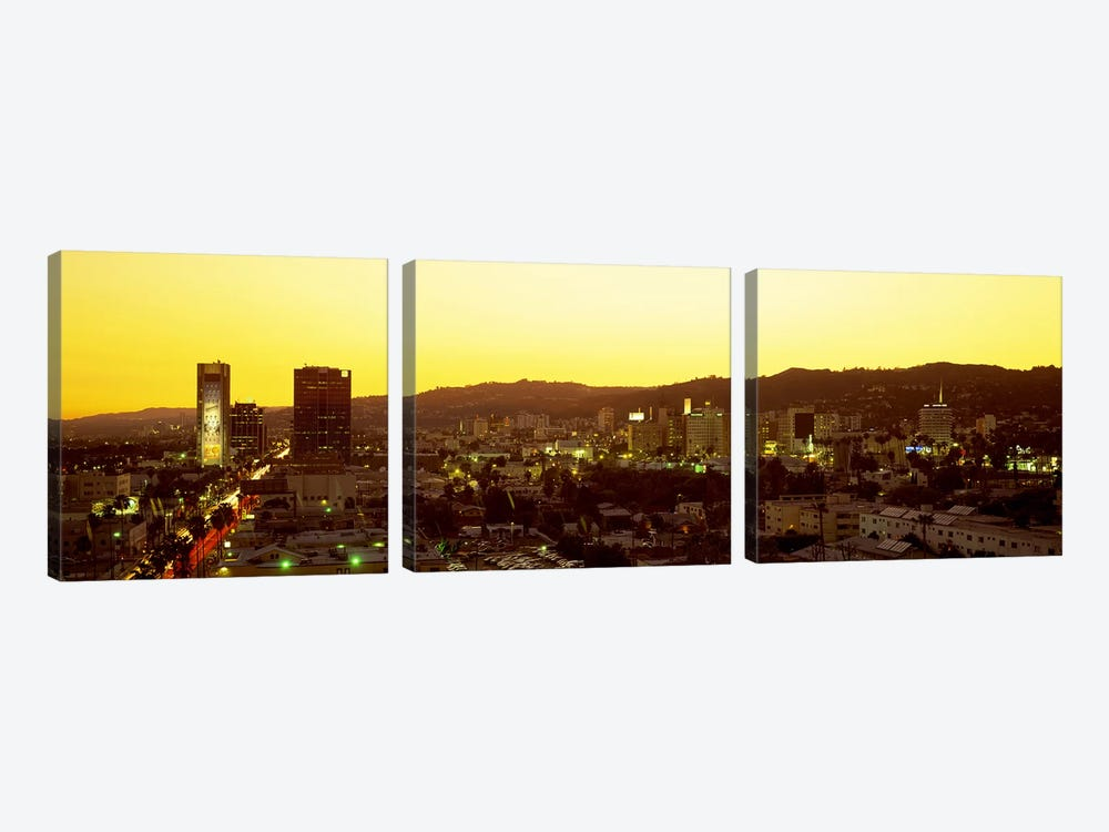 Hollywood Hills, Hollywood, California, USA by Panoramic Images 3-piece Canvas Print