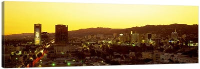 Hollywood Hills, Hollywood, California, USA Canvas Art Print