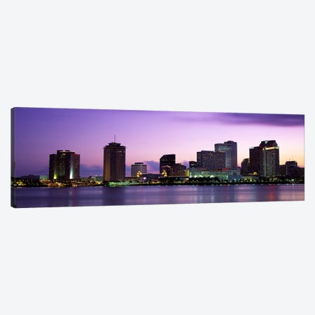 Dusk Skyline, New Orleans, Louisiana, USA Canvas Print #PIM2555} by Panoramic Images Canvas Art