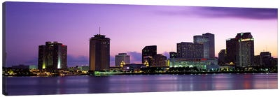 Dusk Skyline, New Orleans, Louisiana, USA Canvas Art Print