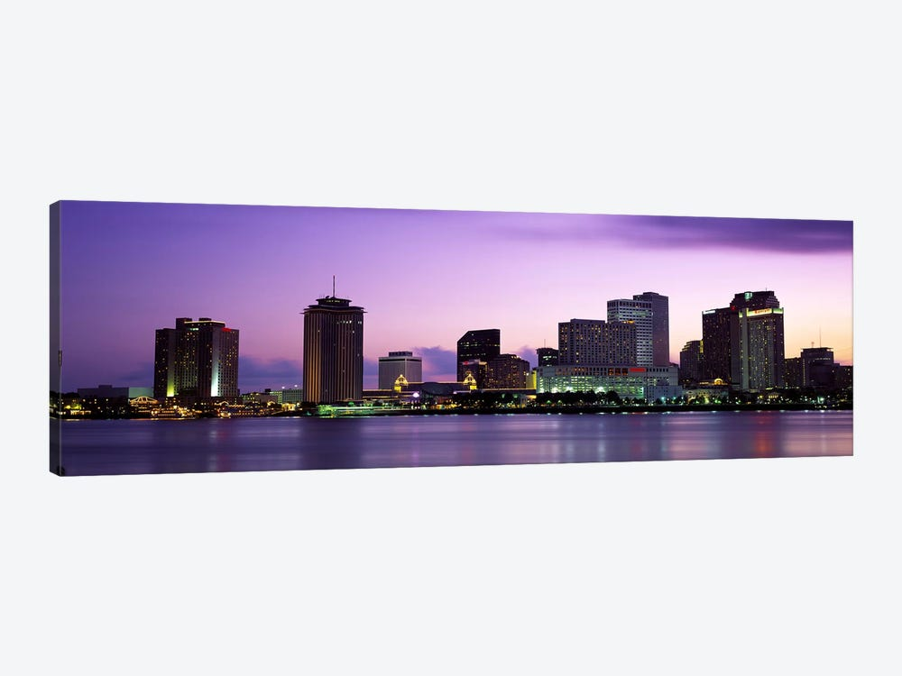 Dusk Skyline, New Orleans, Louisiana, USA by Panoramic Images 1-piece Canvas Wall Art
