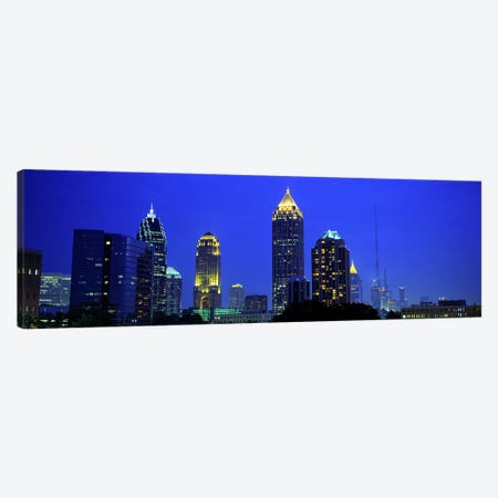 Evening, Atlanta, Georgia, USA Canvas Print #PIM2556} by Panoramic Images Canvas Wall Art