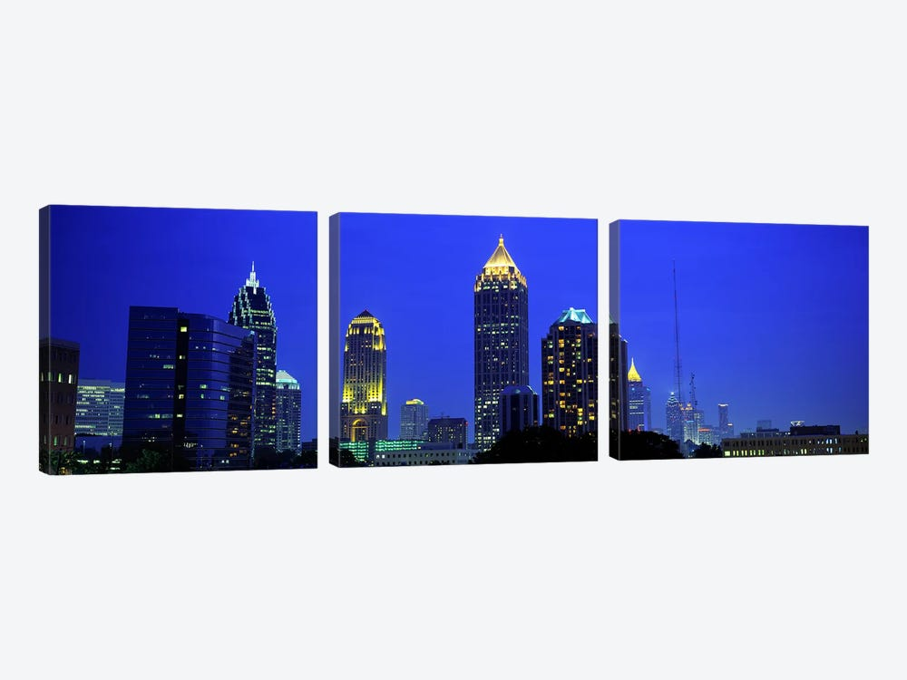 Evening, Atlanta, Georgia, USA by Panoramic Images 3-piece Canvas Art Print