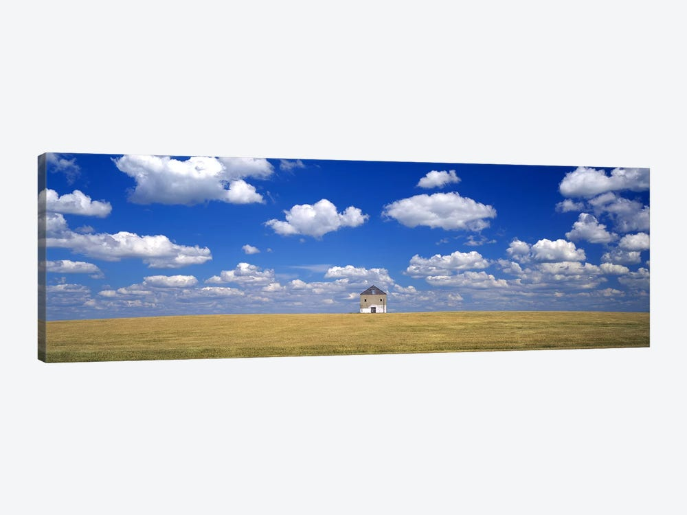 Cloudy Countryside Landscape, Grant County, Minnesota, USA by Panoramic Images 1-piece Canvas Wall Art