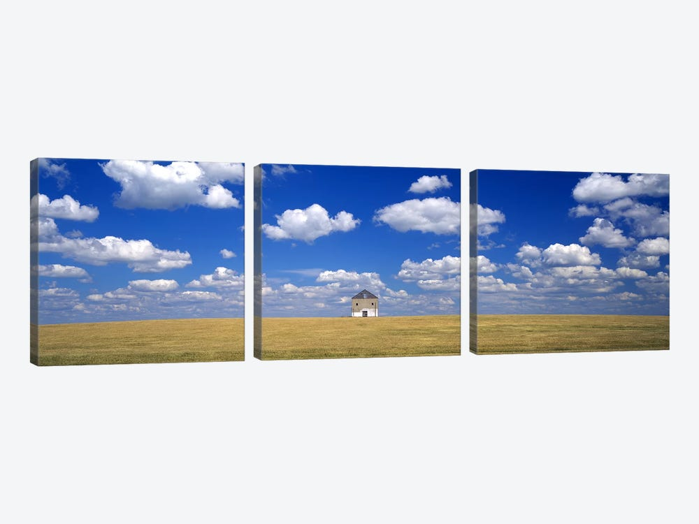 Cloudy Countryside Landscape, Grant County, Minnesota, USA by Panoramic Images 3-piece Canvas Art