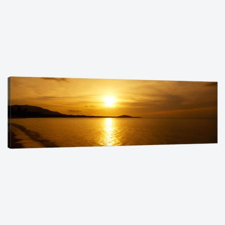 Sunset over the sea, Ko Samui, Thailand Canvas Print #PIM2561} by Panoramic Images Canvas Artwork