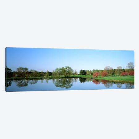Pond at a golf course, Towson Golf And Country Club, Towson, Baltimore County, Maryland, USA Canvas Print #PIM2562} by Panoramic Images Canvas Artwork