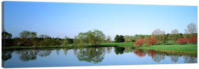 Pond at a golf course, Towson Golf And Country Club, Towson, Baltimore County, Maryland, USA Canvas Art Print