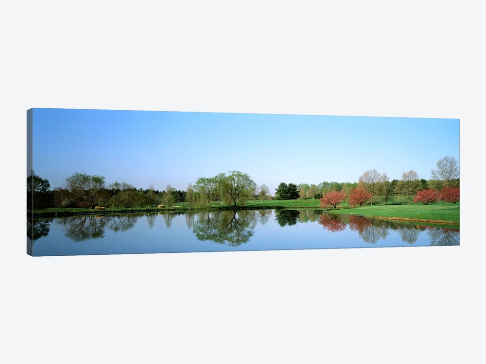 Pond at a golf course, Towson Golf And Country Club, Towson, Baltimore County, Maryland, USA by Panoramic Images 1-piece Canvas Art
