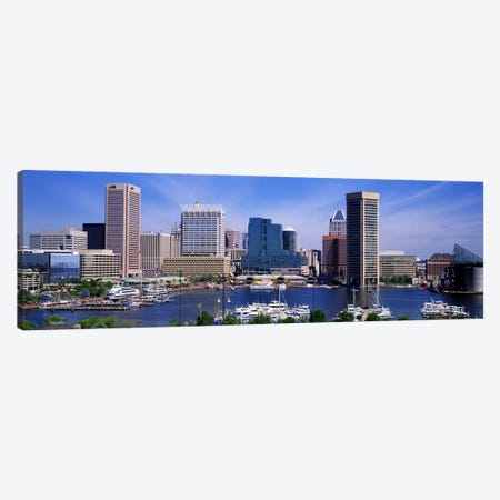 Inner Harbor Federal Hill Skyline Baltimore MD Canvas Print #PIM2564} by Panoramic Images Art Print