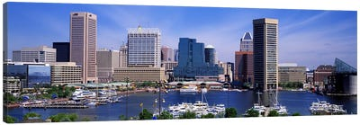 Inner Harbor Federal Hill Skyline Baltimore MD Canvas Print #PIM2564