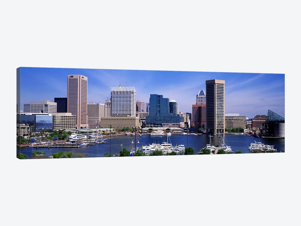 Inner Harbor Federal Hill Skyline Baltimore MD by Panoramic Images 1-piece Canvas Art