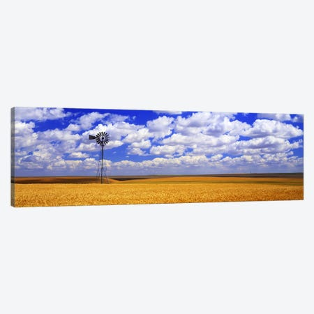 Windmill Wheat Field, Othello, Washington State, USA Canvas Print #PIM2565} by Panoramic Images Canvas Print