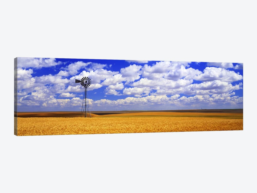 Windmill Wheat Field, Othello, Washington State, USA by Panoramic Images 1-piece Canvas Art Print
