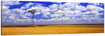 Windmill Wheat Field, Othello, Washington State, USA Canvas Art Print