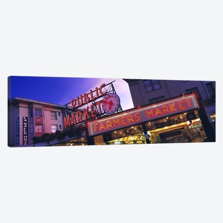 The Public Market Seattle WA USA Canvas Print #PIM2566} by Panoramic Images Canvas Art Print