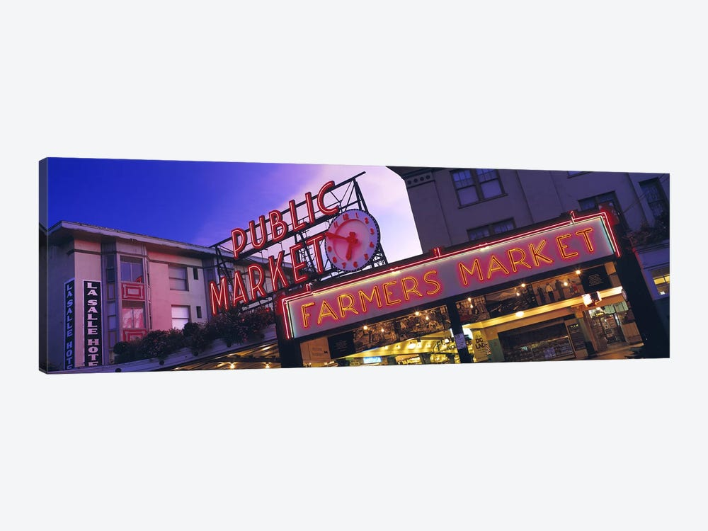 The Public Market Seattle WA USA by Panoramic Images 1-piece Canvas Art